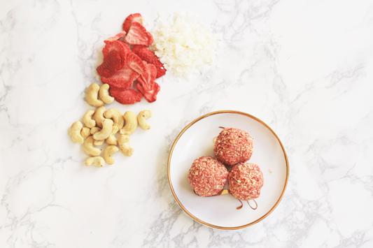 Strawberries and Cream Bliss Balls YUM