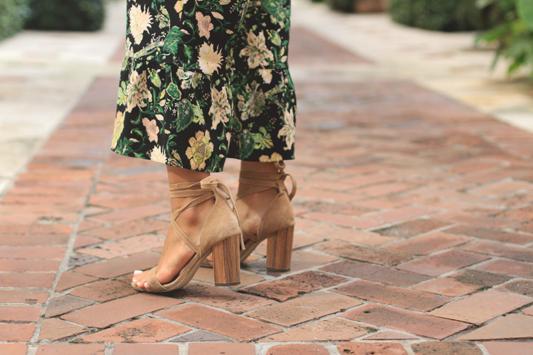Floral Cropped Pants & Raye Heels