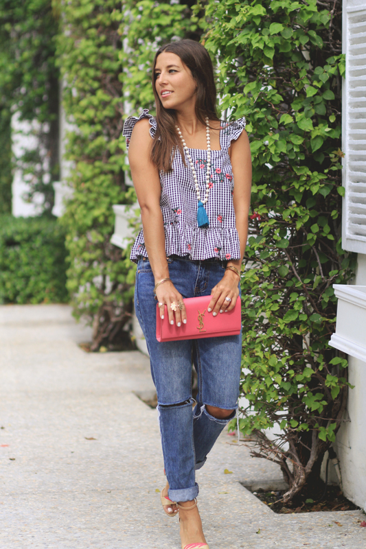 Gingham Love Continues with jeans
