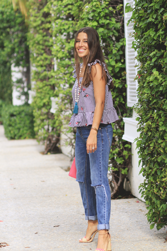 Gingham Love Continues with Denim