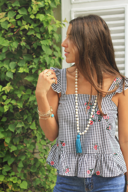 Gingham Love Continues + Very Allegra Necklace