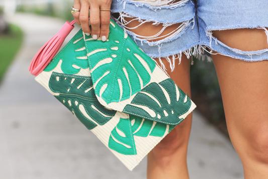 Palm Print Purse
