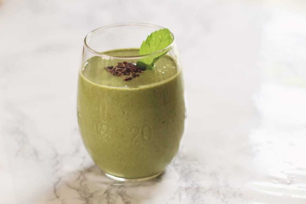 Mint Chip #FabFourSmoothie for Breakfast