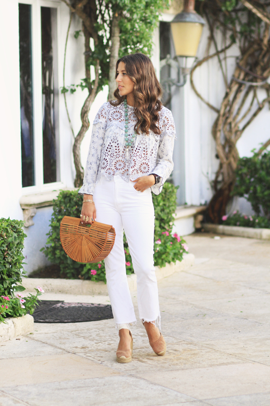 White Jeans by Mother