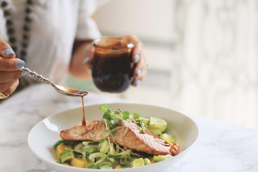 Favorite Asian Salmon Bowls & extra marinade