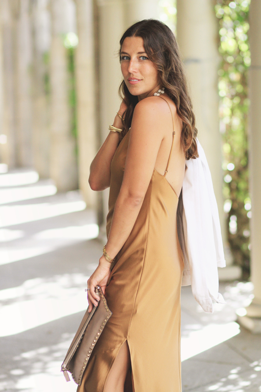 Bronze Silk Slip Dress 3