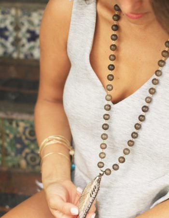 Denim Cutoffs & Very Allegra Necklace