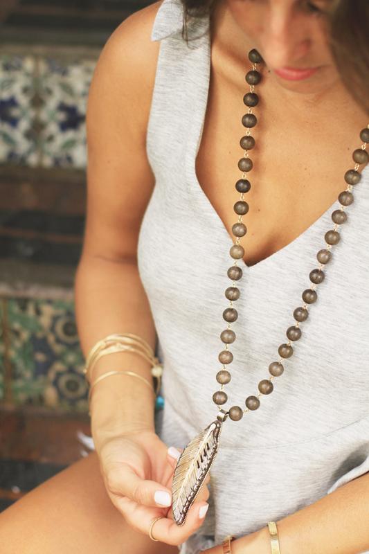 Denim Cutoffs & Very Allegra Necklace