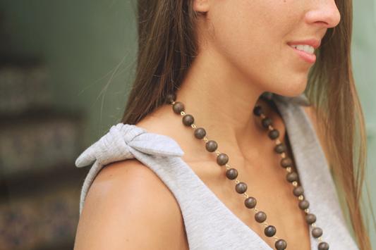 Denim Cutoffs & Grey Bow Detail