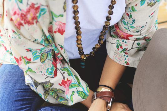 Floral Kimono Details