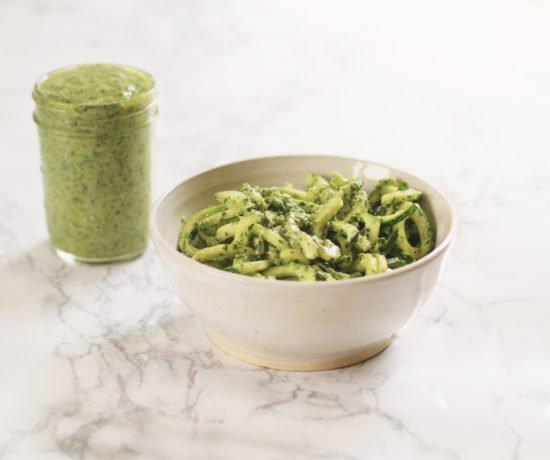 Vegan Pesto + Zucchini Noodles