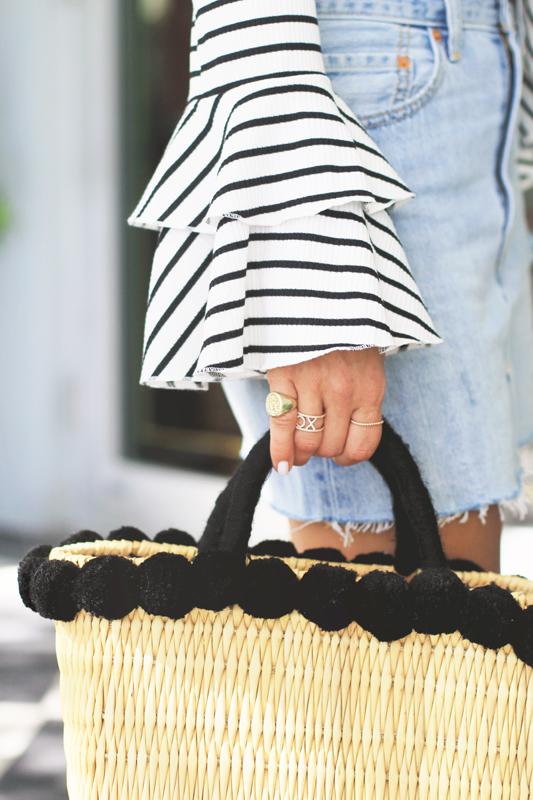 Striped Bell Sleeves& Gelato & Mariella Vilar