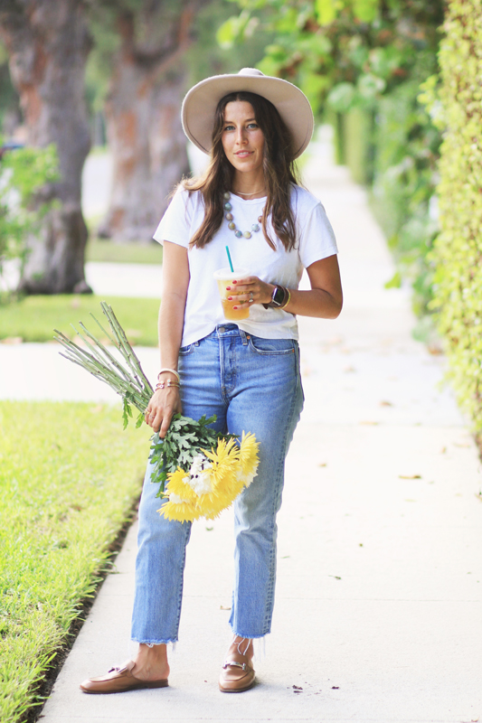 Simple Jeans & a White Tee Look
