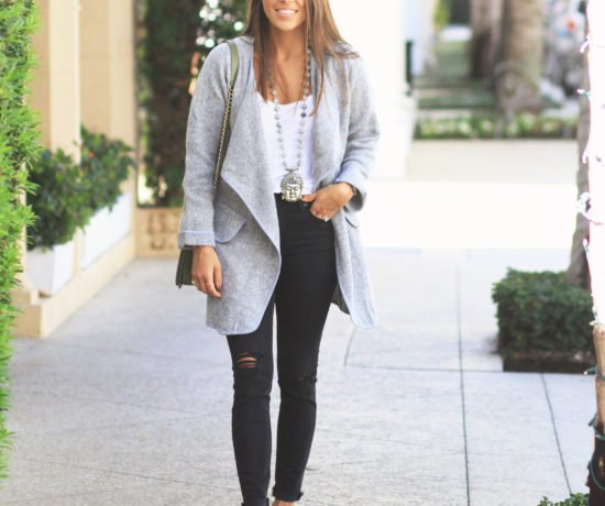 Cardigan Coat & Ballet Slippers 1