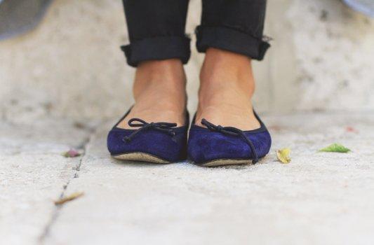 Cardigan Coat & Ballet Slippers from Ann Mashburn