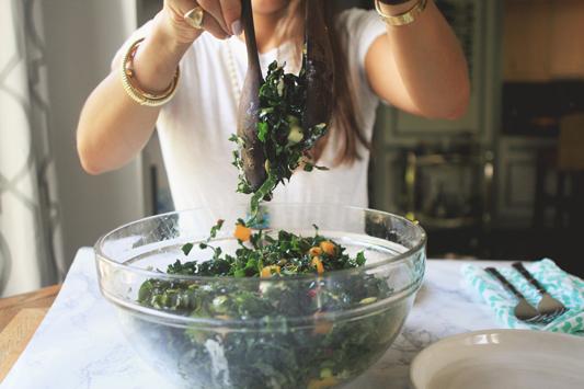 Fall Kale Salad Mix