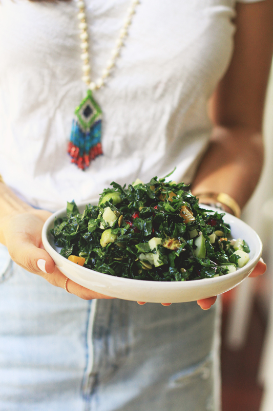 Fall Kale Salad for Thanksgiving