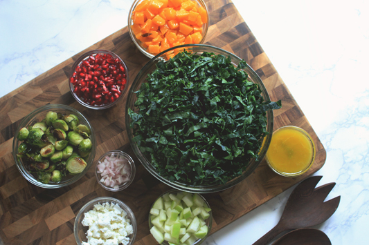 Fall Kale Salad Deconstructed