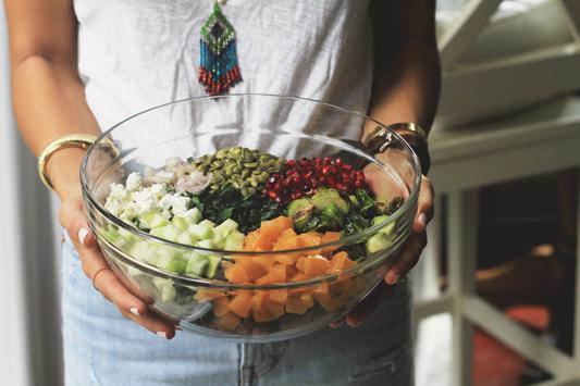 Fall Kale Salad with Veggies