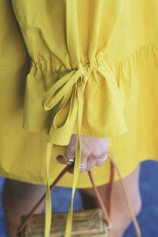 Yellow Swing Dress with Bows