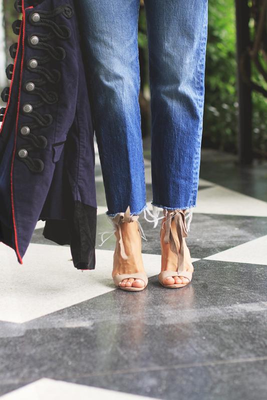 Military Style Navy Jacket, Levi's & heels
