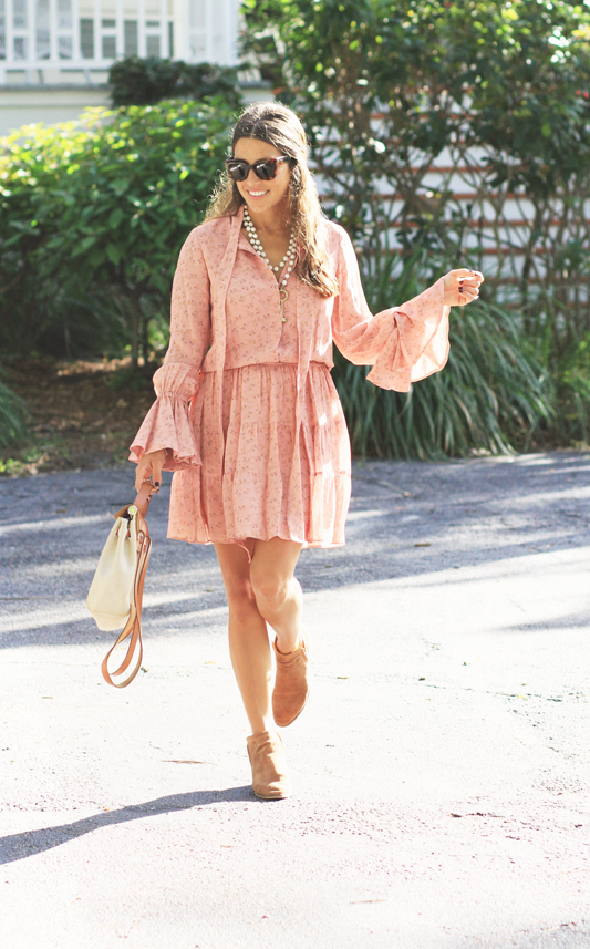 Peachy Dress & booties