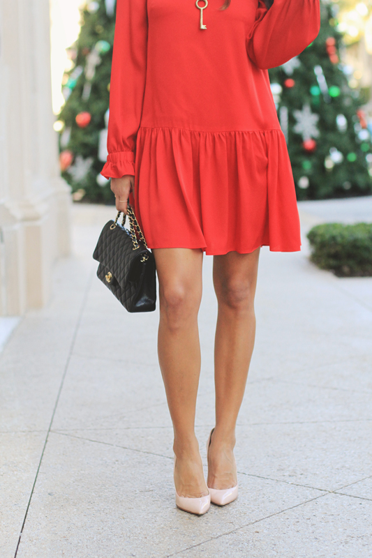 Red Silk Dress For Christmas 1