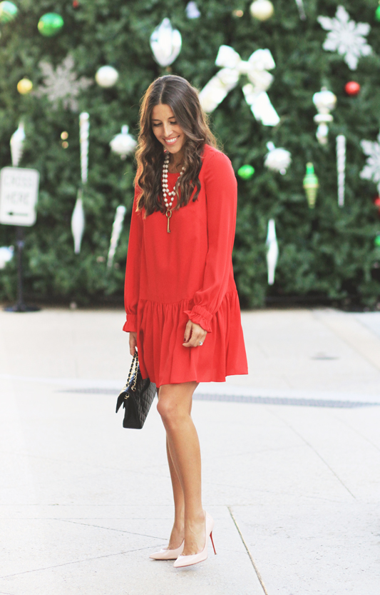 Red Silk Dress For Christmas Night