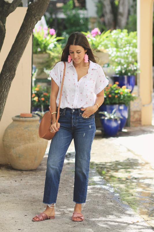 Linen Button Down & Jeans 1