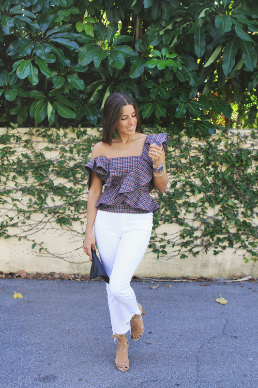 Plaid Ruffle Top from ShopBop
