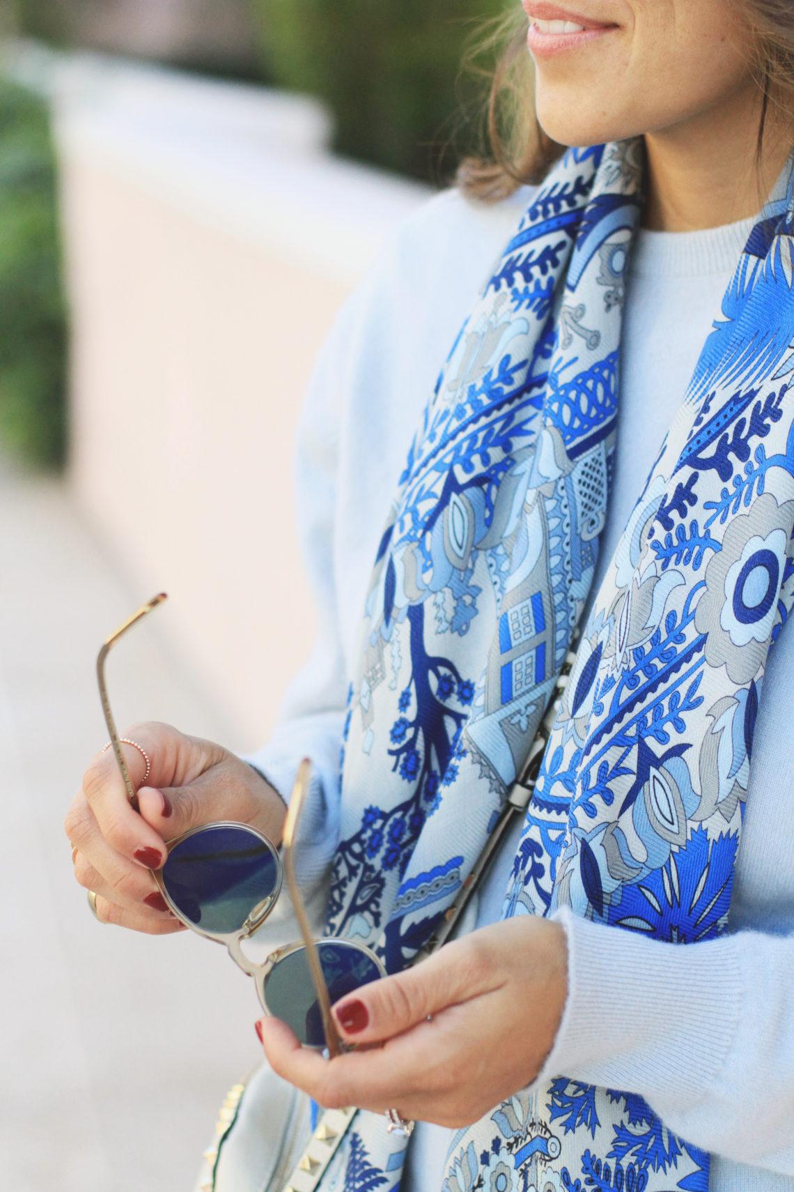Blue Scarf by Rani Arabella