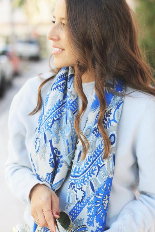 Blue Scarf by Rani Arabella 7