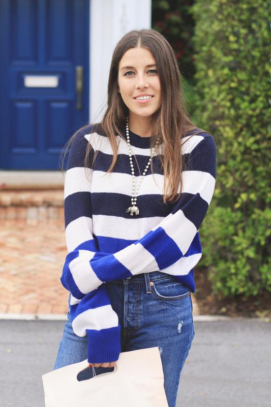 Blue stripe sweater Cozy vibes