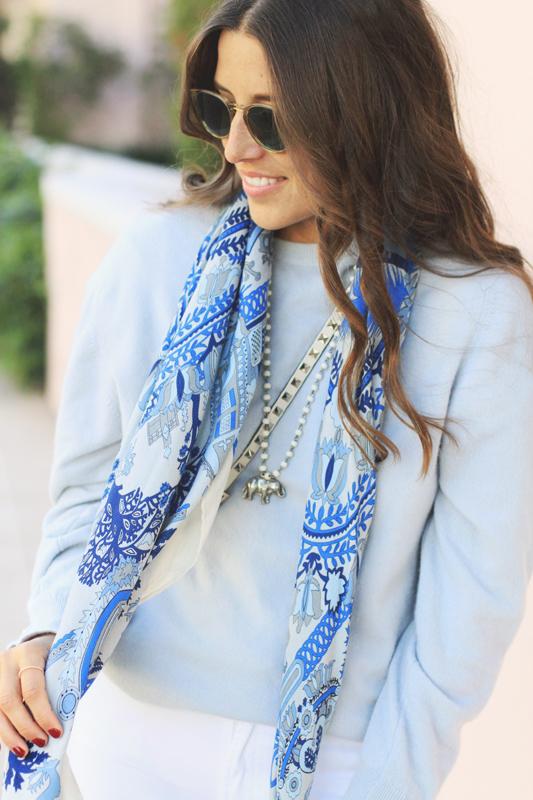 Blue Scarf by Rani Arabella 5