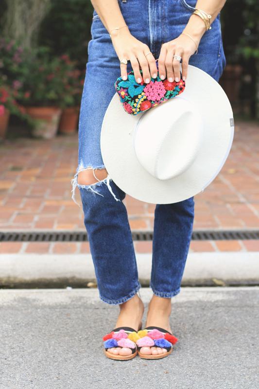 Tassel Sandals & Hat