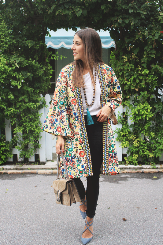 Colorful Kimono with Embroidery 1