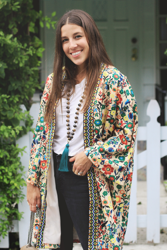 Colorful Kimono with Embroidery 7