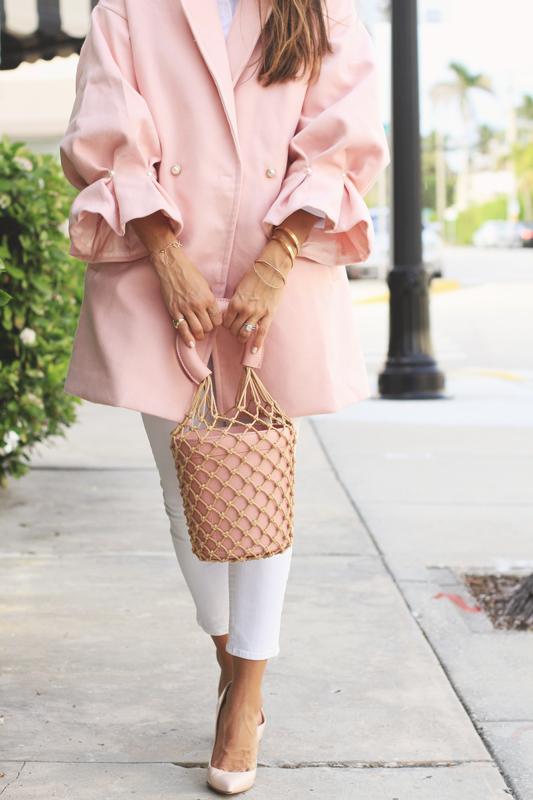 Pink Coat & Handbag