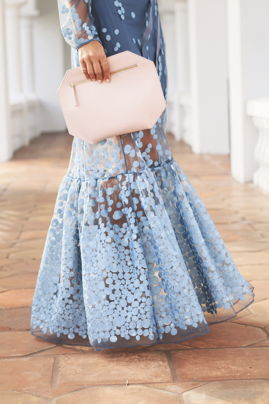 Blue Dot Gown by A