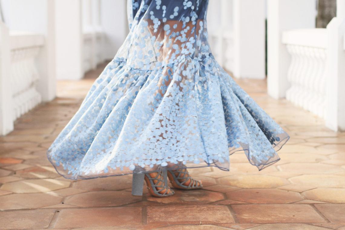 Blue Dot Gown