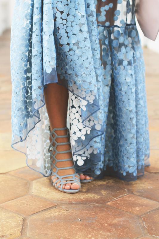 Blue Dot Gown & Schutz