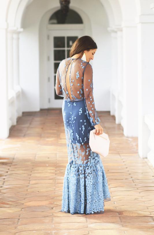 Blue Dot Gown by Shop Alexis