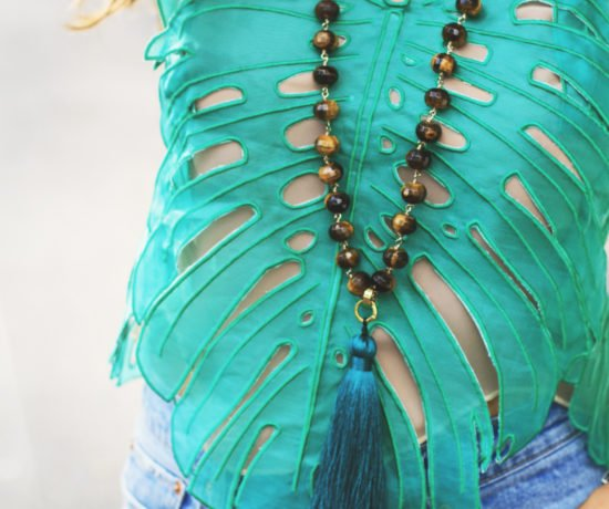 Palm Leaf Top & Jeans