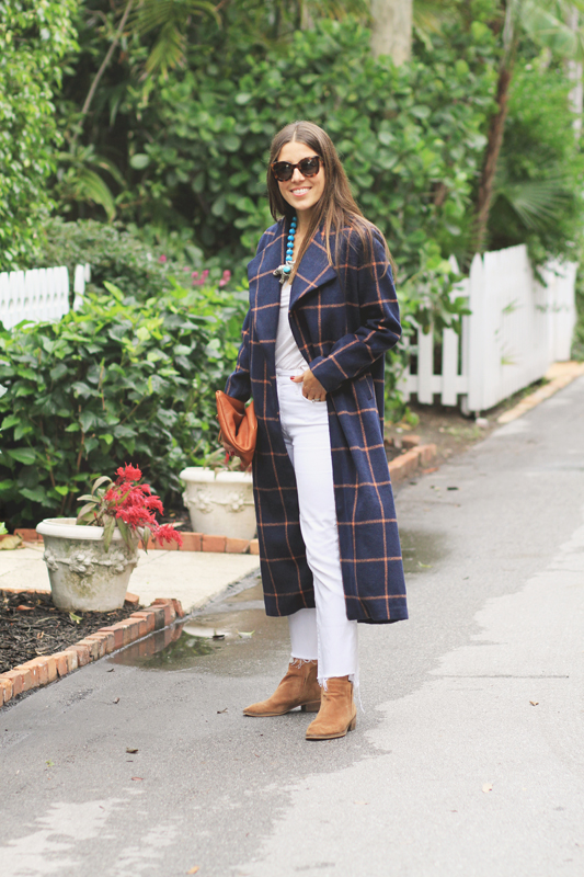 Checkered Coat & Boots