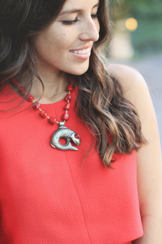 Valentine's Day Red Look & Necklace