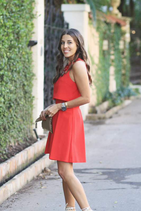 Valentine's Day Red Two Piece Look