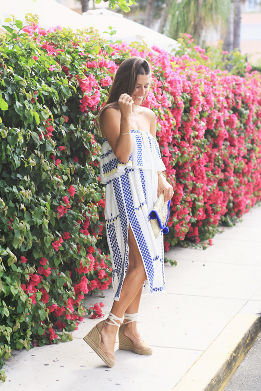Embroidered Midi Dress style