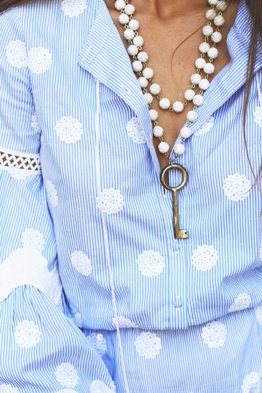 Blue, White, Stripes & Polka Dots key