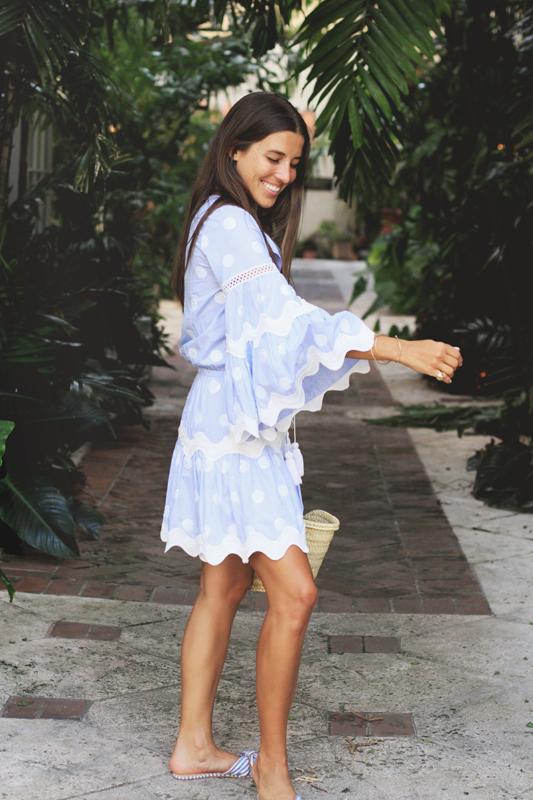 Blue, White, Stripes & Polka Dots dress