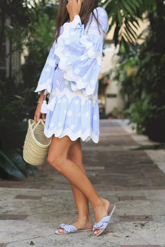 Blue, White, Stripes & Polka Dots & Mariella